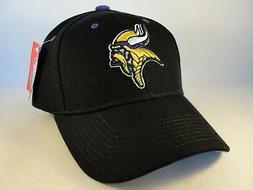 Minnesota Vikings NFL Reebok Adjustable Strap Hat Cap Black