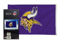 Minnesota Vikings NFL 3in x 5in Banner Flag