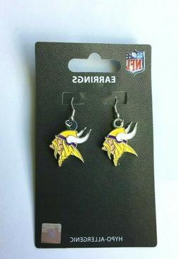 minnesota vikings nfl dangle earrings