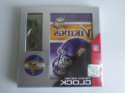 Minnesota Vikings NFL Digital Desk Alarm Clock Calendar Foot