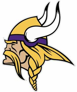 Minnesota Vikings NFL Football Color Logo Sports Decal Stick