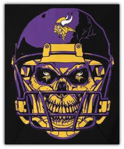 Minnesota Vikings NFL Helmet Skull Car Bumper Sticker Decal