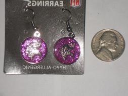 Minnesota Vikings NFL Licensed Round Earrings New