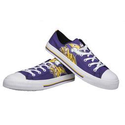 Minnesota Vikings NFL Men's Low Top Big Logo Canvas Shoes FR