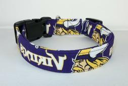 Minnesota Vikings NFL Terri's Dog Collar custom made adjusta