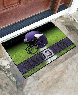 Minnesota Vikings NFL Welcome Sign Rubber Doormat Football P