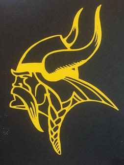 minnesota vikings nfl yellow gold vinyl sticker