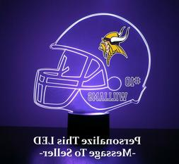 Minnesota Vikings Night Light, Personalized FREE, Football L