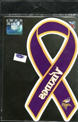"""Minnesota Vikings Official  Team  Ribbon Magnet  for car 7"""""""
