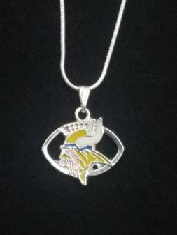 Minnesota Vikings Pendant/Necklace on Sterling Silver Chain