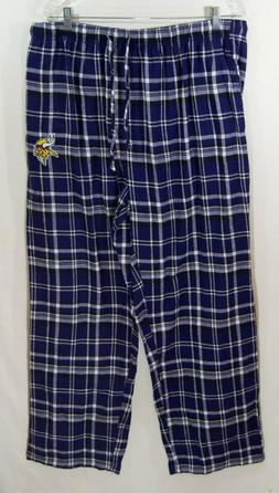 NFL Team Apparel Minnesota Vikings Plaid Flannel Pajama Pant
