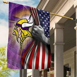 minnesota vikings polyester flag outdoor indoor home