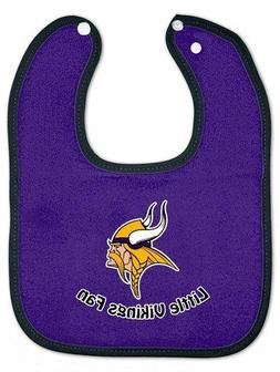 Minnesota Vikings Purple Cotton Baby Bib