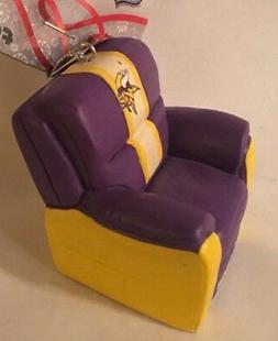 Minnesota Vikings Reclining Chair Christmas Tree Holiday Orn