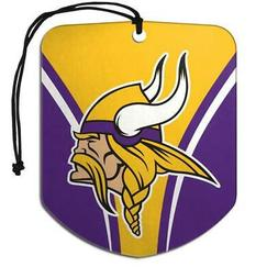 Minnesota Vikings Shield Design Air Freshener 2 Pack  NFL Fr