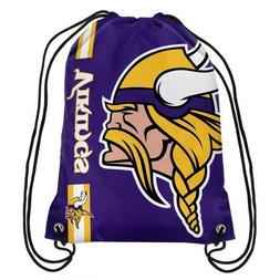 """MINNESOTA VIKINGS """"Side Stripe"""" Drawstring Backpack"""