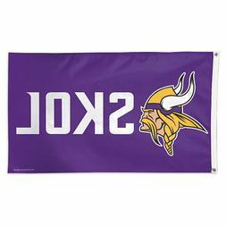 Minnesota Vikings SKOL Large Outdoor Flag