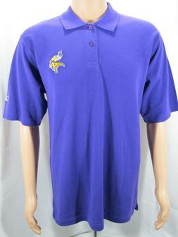 Reebok Minnesota Vikings SS Polo Shirt Men's Medium Purple E