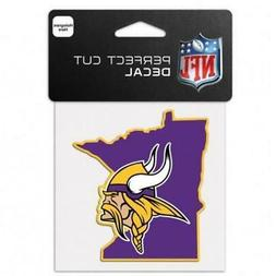 "Minnesota Vikings State Shape 4""x4"" Car Decal  NFL Sticker E"