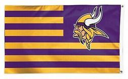 minnesota vikings stripes nation americana premium 3x5