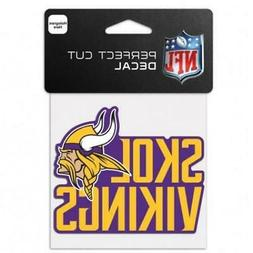 "Minnesota Vikings Team Slogan 4""x4"" Car Decal  NFL Sticker E"