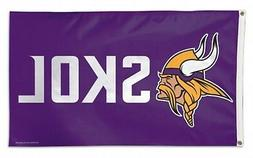 Minnesota Vikings WC SKOL Logo Design Premium 3x5 Flag Outdo