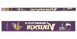 Minnesota Vikings Wooden Pencil 6 Pack  NFL School Write Pen