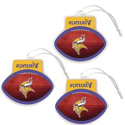New 3pc NFL NFL Minnesota Vikings Hanging Gel Air Freshener