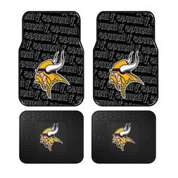 New 4pc Set NFL Minnesota Vikings Car Truck Rubber Vinyl Flo
