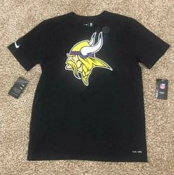 New Nike Minnesota Vikings Men's Essential Black Dri-Fit T-S