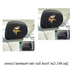 New NFL Minnesota Vikings Car & Truck Embroidered Headrest C