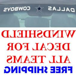 NEW NFL Windshield Decals for Car Van or Truck! ALL TEAMS FR