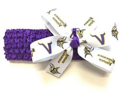 Newborn Girls Minnesota Vikings Headband Baby Girl NFL Vikin