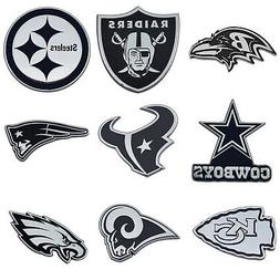 NFL All Teams Premium Chrome Plated Solid Metal Car Auto Emb