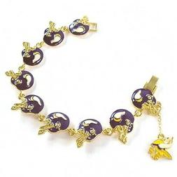 NFL Football Minnesota Vikings Fancy Gold Charm Bracelet