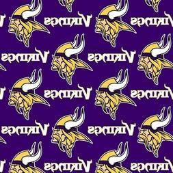 NFL Football Minnesota Vikings Purple Fabric by the Yard