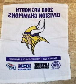 Minnesota Vikings  NFL Football Rally Towel 2008 NFC North C