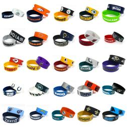 NFL Football Silicone Rubber Wrist Band Two Bracelets Choose