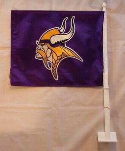 "NFL Minnesota Vikings 11"" x 14"" Logo Team Colors Car Window"