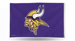 NFL Minnesota Vikings 3' X 5' Deluxe Skol Flag With Metal Gr