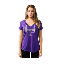 NFL Minnesota Vikings Bridgewater #5 Women's V-Neck Syntheti