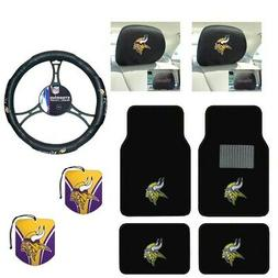 NFL Minnesota Vikings Car Truck Floor Mats Steering Wheel Co