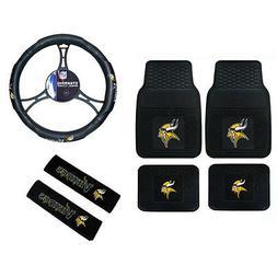 NFL Minnesota Vikings Car Truck Floor Mats Steering Wheel Co