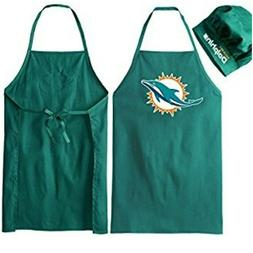 NFL Miami Dolphins Tailgating Apron and Chef's Hat