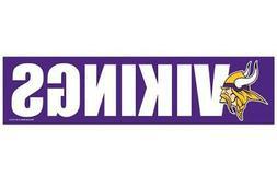 NFL Minnesota Vikings Decal Bumper Sticker, Team Color, One