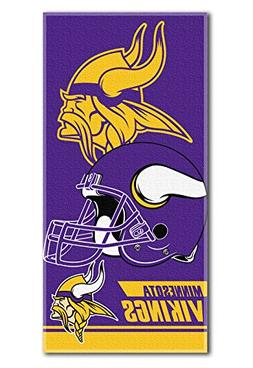 NFL Minnesota Vikings Double Covered Beach Towel, 28 x 58-In
