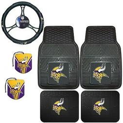 NFL Minnesota Vikings Floor Mats Steering Wheel Cover & Air