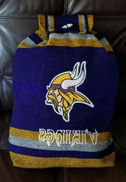 nfl minnesota vikings handmade backpack aztec tote