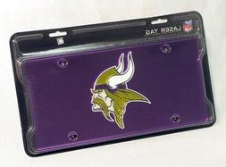 NFL Minnesota Vikings Laser-Cut Auto Tag