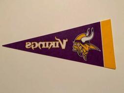 "NFL Minnesota Vikings Mini Pennant Flag 4""x9"" NEW Football D"